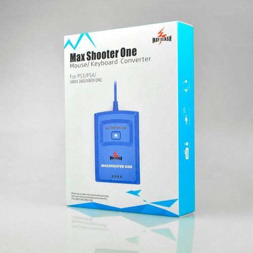 maxshooter one 2018 teclado/ mouse ps3 ps4 xbox 360 e one