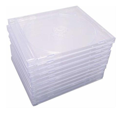 maxtek - caja para cd (0.409in, con bandeja transparente