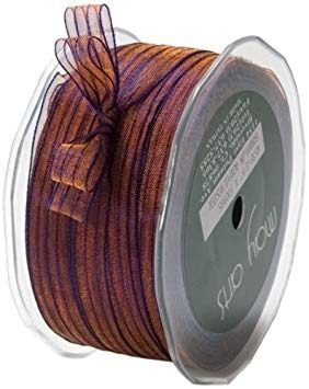 may arts 3/8-inch wide ribbon, copper and purple sheer iride