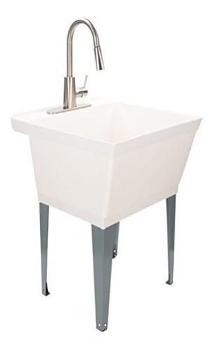 maya lavandería fregadero utilidad tina con alta arco llave