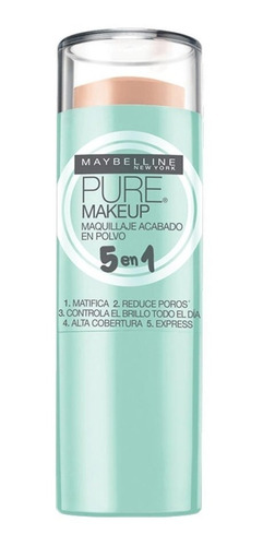 maybelline base en barra stick pure make up 5 en 1