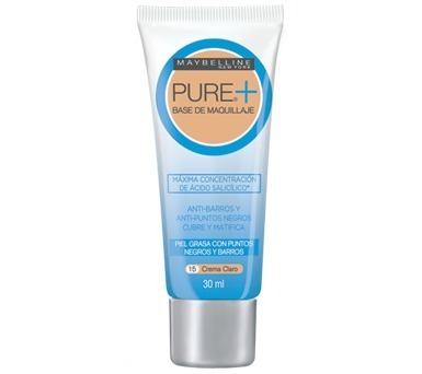 ed668f0ba09b Maybelline Base Maquillaje Liquido Pure Makeup+ Control Acné -   329 ...