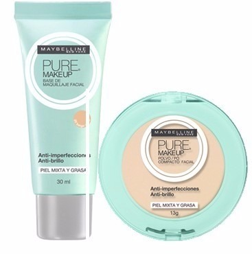 1f691c4a7 Maybelline Kit Pure Makeup Polvo / Base De Maquillaje Medio ...