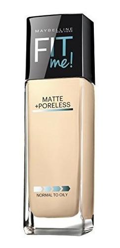 maybelline makeup fit me matte maquillaje poreless liquid fo