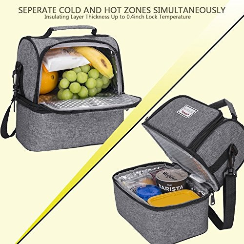 mayetori lunch box con bolsa de almuerzo grande aislada para