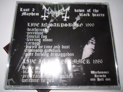 mayhem dawn of the black hearts cd live 1986 -1990