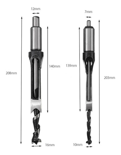 mayitr portable premium square hole mortiser drill bit, mort