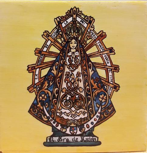 mayólica vírgen de luján azulejos religiosos  biblia