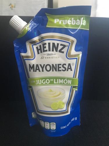 mayonesa heinz pouch x 340 gr