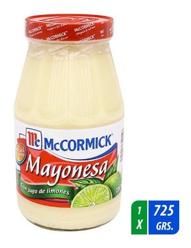 mayonesa mccormick con jugo de limón 725 gr