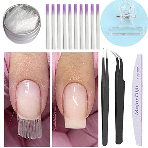 mayor juego de uñas fibra de vidrio a acrilico para extensi