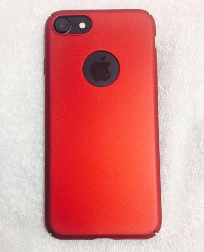 mayoreo 10 funda delgada + cristal templado  iphone 7 y 7+