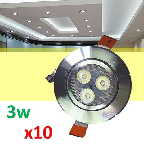 mayoreo 10 panel spot led 3w dirigibles luces casa oficina