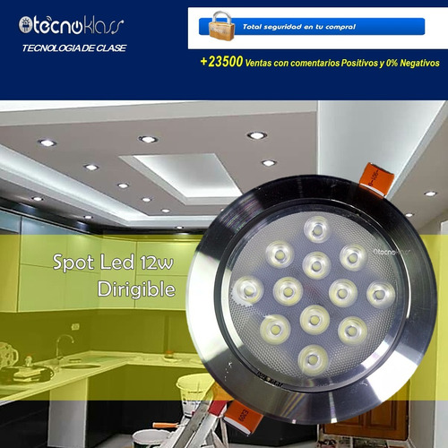 mayoreo 10 spot led 12w dirigibles panel luces casa oficina