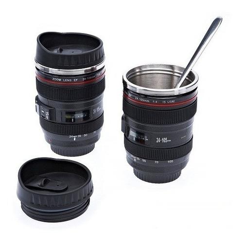 mayoreo · 10 termos forma lente de cámara acero inox · 360ml