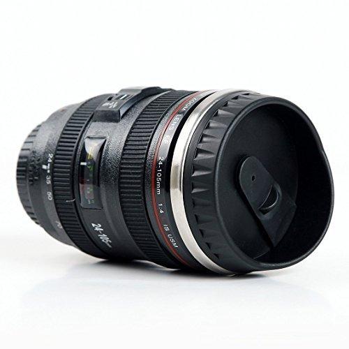 mayoreo · 5 termos forma de lente de cámara acero inox 400ml