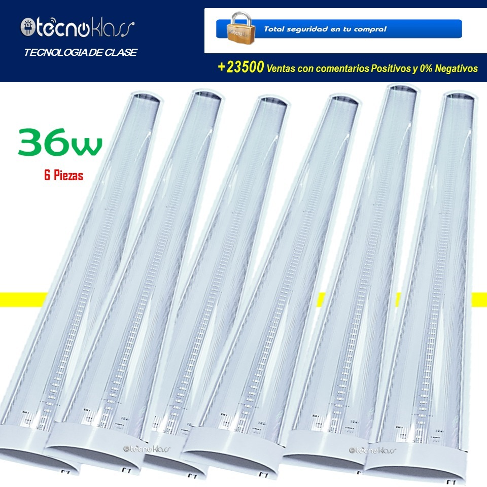 cd62f6a3f2e mayoreo 6 lamparas led 36w 120cm focos luces casas oficinas. Cargando zoom.