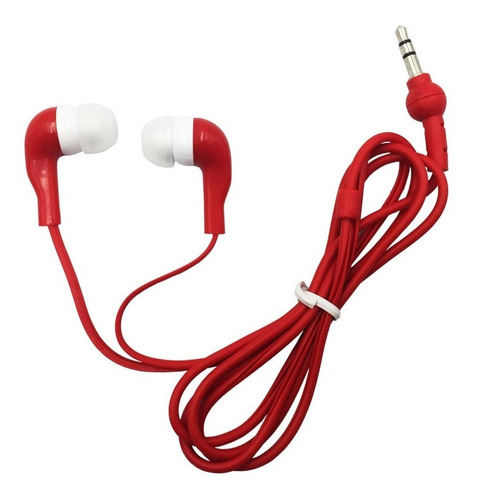 mayoreo audifonos 3.5mm comodos y resistentes - 10 colores