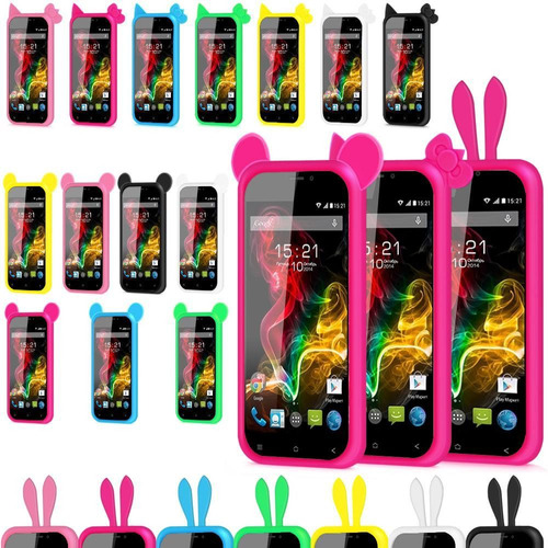 mayoreo bumper de silicon universal 5 colores smartphone 7cm