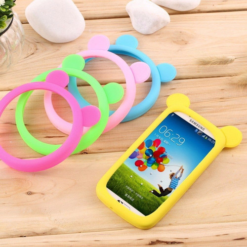 mayoreo bumper silicon universal 5 colores smartphone 10cm