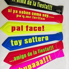 Mayoreo Corbatas Neón Con Frases Para Fiestas 2400 Piezas