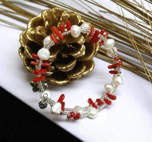 mayoreo lote de 5 pulseras de perlas y piedras naturales