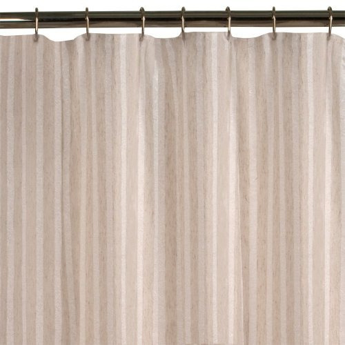 maytex lino a rayas cortina de ducha - Cortinas Lino