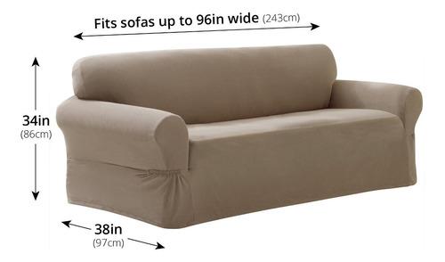 maytex stretch pixel 1 piezas de funda de sofá, arena