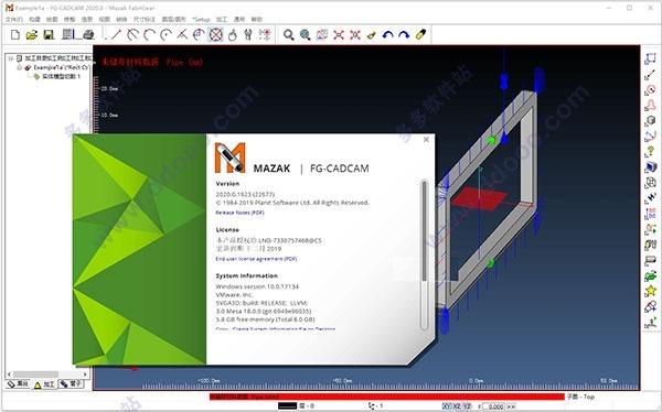 Mazak Fg-cadcam 2020 + Link/cam Tubos E Tubulações
