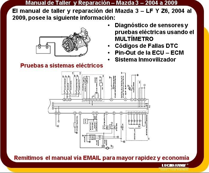 Mazda 3 Manual Servicio Taller Reparacion Diagramas 04 A