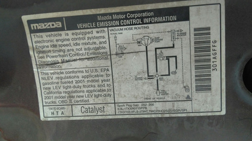 mazda tribut 2001 v6 3.0 lit  automática venta de partes yo