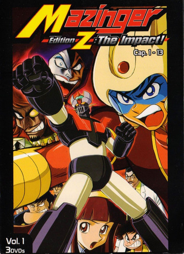 mazinger edition z the impact volumen 1 uno dvd
