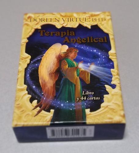 mazo 44 cartas y libro terapia angelical doreen virtue nuevo