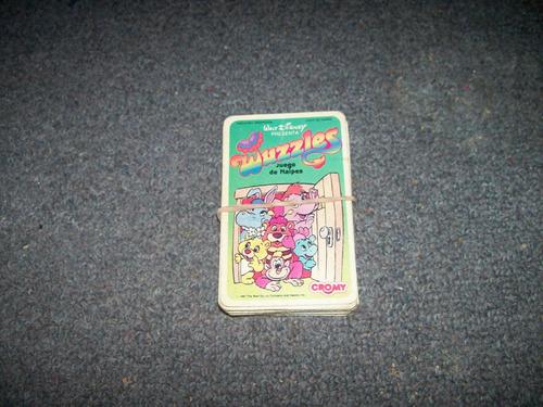 mazo de cartas wuzzler completo - no envio