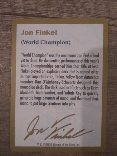 mazo de coleccion magic the gathering  jon finkel