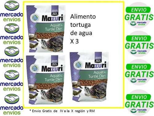 mazuri tortuga de agua x 3.envio gratis.erickerizo
