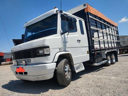 mb 1114 - 1994 truck 6x2 - boiadero 6 metros rodas alumínio