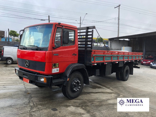 mb 1214 carroceria 7m unico dono - motor novo