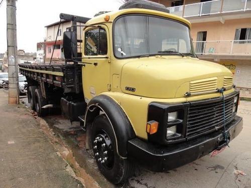 mb 1313 truck ano 1977 com carroceria.