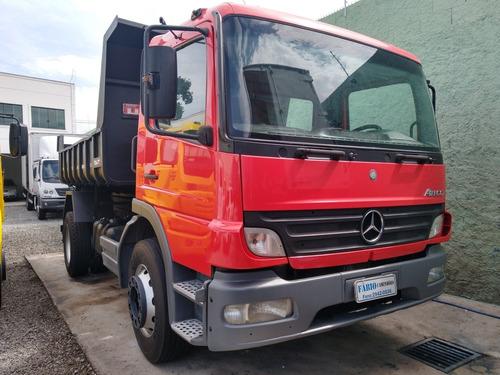 m.b 1418 atego caçamba aceito troca carro fabio caminhões