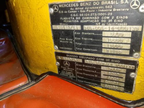 mb 1513, unico dono, carroceria de madeira impecavel