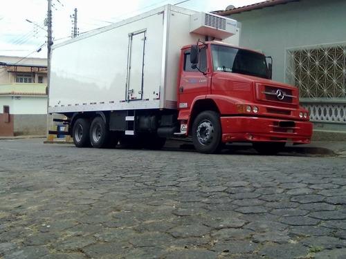 mb 1620 baú refrigerado 2007
