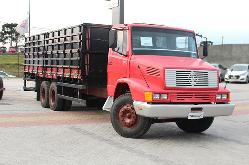 mb 1621 1992 6x2 carroceria grade alta = grãos raridade