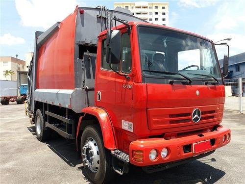 mb 1718 ano:2009 c/ compactador de lixo usimeca 15m³