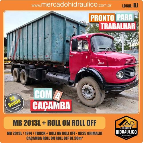 mb 2013l / 1974 - roll on roll off gr25 grimaldi e caçamba