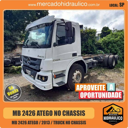 mb 2426 atego / 2013 no chassis