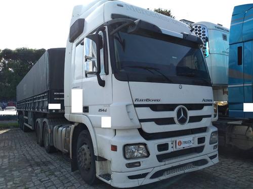 mb 2546 actros 6x2 ano 2012 único dono (motor 350 mil km)