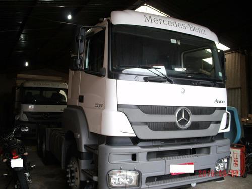 mb 3344 cavalo mecânico 6x4 traçado leito com 60.000 km novo