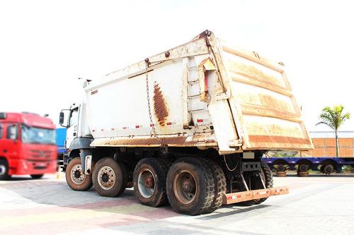 mb 4144 8x4 traçado  2009  caçamba minério 25m³