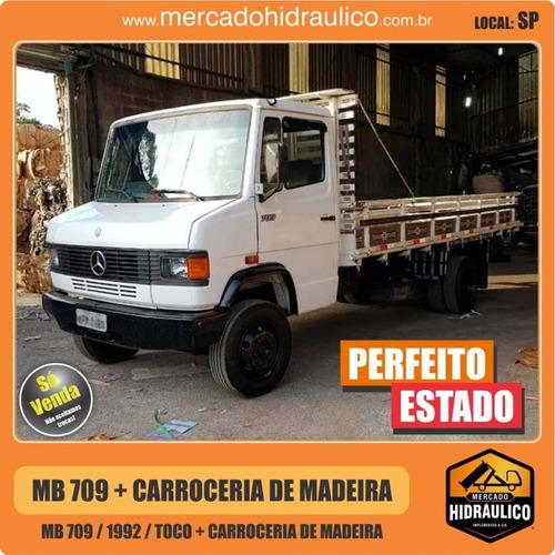 mb 709 / 1992 - carroceria de madeira